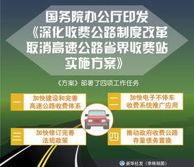 国务院办公厅印发深化收费公路制度改革取消高速公路省界收费站实施方案