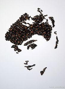 瓜子壳拼贴的名人肖像画