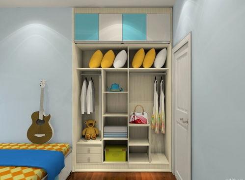 儿童房衣柜带书桌书架