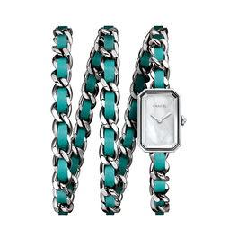 香奈儿premiererockpop绿松石蓝表链腕表