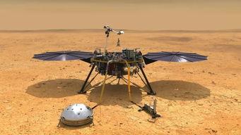 洞察号在火星着陆示意图