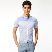 格子衬衫半袖怎么搭配