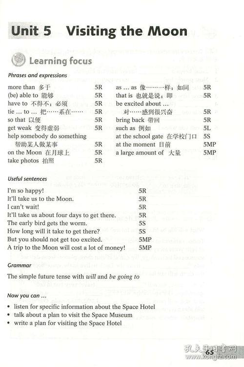 英语七级上册同步配套作文范文