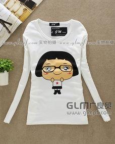 长袖纯棉圆领女装T恤纯棉童装长袖T恤批发
