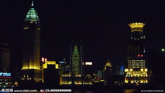 上海外滩的夜景,值得欣赏