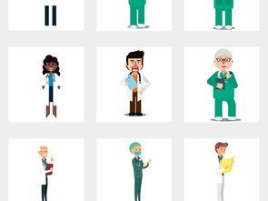 卡通检查医生护士健康体检身体检适量素材图片设计 高清psd模板下载 ...