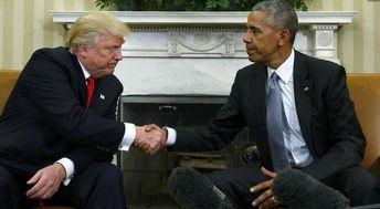 奥巴马特朗普白宫会面商讨政权交接事宜