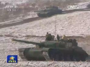 39军重型99坦克群04战车群严寒出动苦练新战法