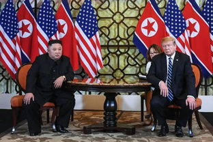 2月28日,朝鲜最高领导人金正恩和美国总统特朗普举行会晤.(
