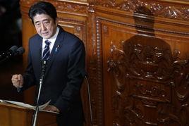 1月28日,安倍晋三发表国会演说.安倍在参院接受质询称将