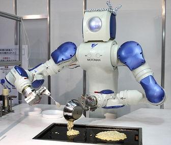 我想发明会做饭的机器人