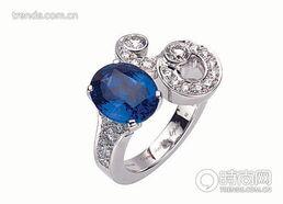 ...Neptune蓝宝石钻戒 -婚戒搭配 指间的绿野仙踪