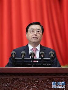 全国人大常委会委员长张德江作全国人民代表大会常务委员会工作报告。