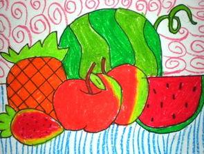 儿童画夏天的水果