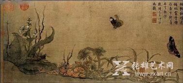 写生蛱蝶图(我国古代画家的名字和)