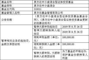 11月18日,兴全合宜发布公告,将交易限额限制在1万元以下.