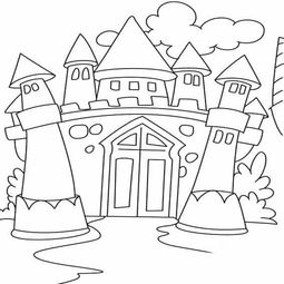 公主城堡图片简笔画