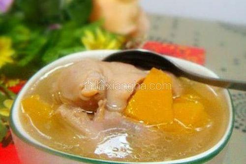 南瓜猪脚汤的做法大全家常
