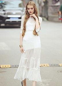 彩铅如何画泡泡袖连衣裙