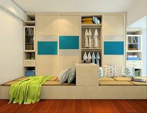 儿童房榻榻米和衣柜