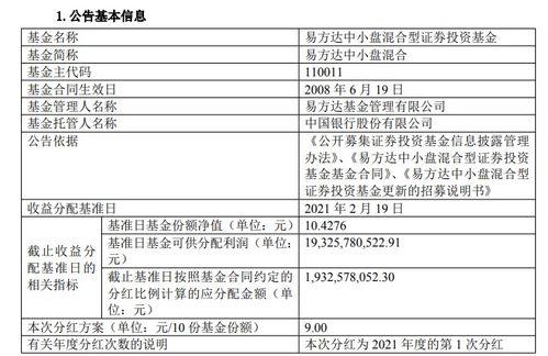 张坤旗下的易方达中小盘明起暂停申购,还发布了分红公告
