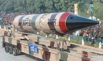 印度烈火3型弹道导弹参加阅兵式