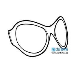 简笔画眼镜图片 2