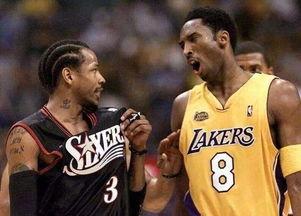 艾弗森和科比可算一时瑜亮,2001总决赛直接交手,不过76人1-4不敌湖人.