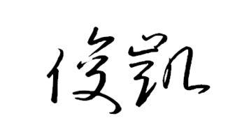 俊凯的潦草字体怎么写