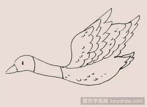 简笔画大雁是怎么画的
