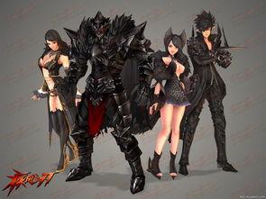 疾风之刃1月15日推出4款全新时装 黑色质感的职业时装引爆时尚