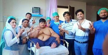 巴基斯坦10岁小孩体重近200公斤成新的世界最胖男孩