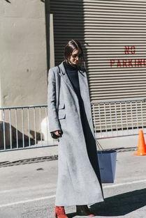 双面呢大衣,看起来就很贵