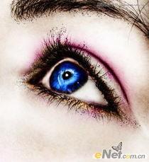 Photoshop调出蓝色清澈的眼珠效果