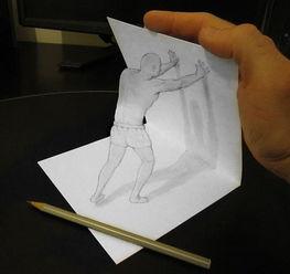 迷惑双眼的神奇3D铅笔绘画