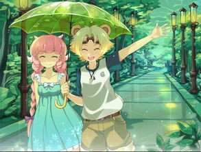 求一张图片,下雨天男的为女的撑伞,要动漫的谢谢