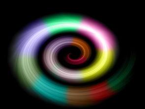 彩色漩涡的幻想