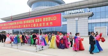 中国艺术团访朝演出 朝鲜观众跳着鼓掌