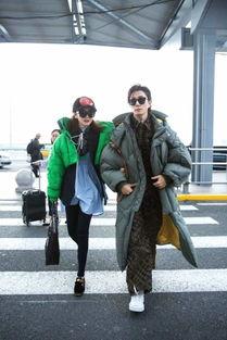 戚薇李承铉夫妇机场撒狗粮,穿羽绒服时尚感爆棚,太养眼了吧