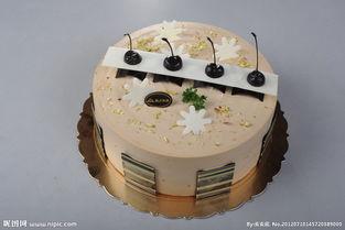 咖啡生日蛋糕图片