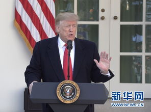 1月25日,美国总统特朗普在华盛顿白宫发表讲话.新华社记者胡友松摄
