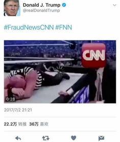 特朗普推特发怒打cnn视频再杠媒体cnn幼稚
