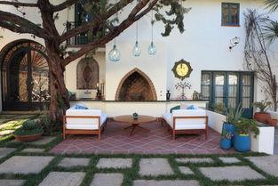 地中海风格别墅庭院特色白色围墙设计欣赏