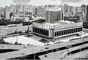 牛人钢笔画郑州地标建筑