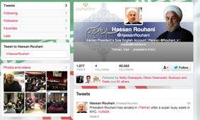 伊朗总统哈桑·鲁哈尼的twitter账户(网页截图)