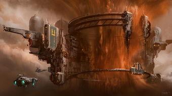 美国艺术家描绘未来人类太空采矿场景