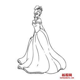 白雪公主简笔画