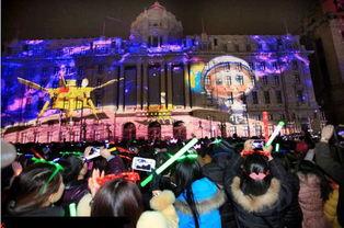 上海上演2014年跨年4d灯光秀