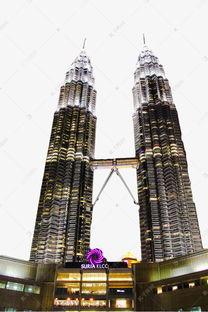 马来西亚吉隆坡双子塔夜景