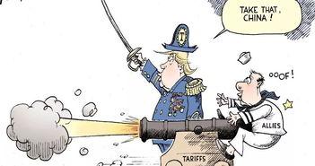 图1特朗普政府对华贸易战